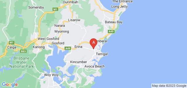 Google static map for Terrigal