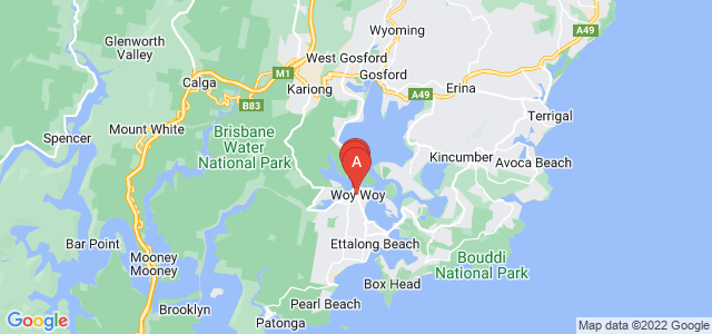Google static map for Woy Woy