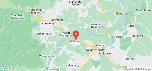 Google static map for Hawkesbury