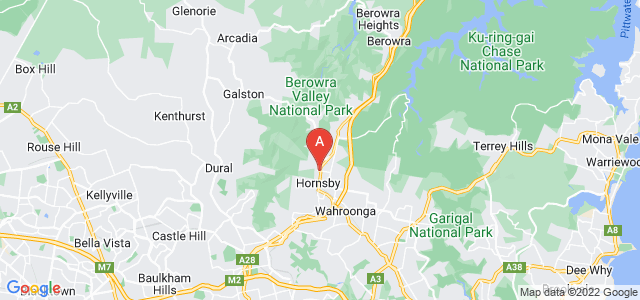 Google static map for Hornsby