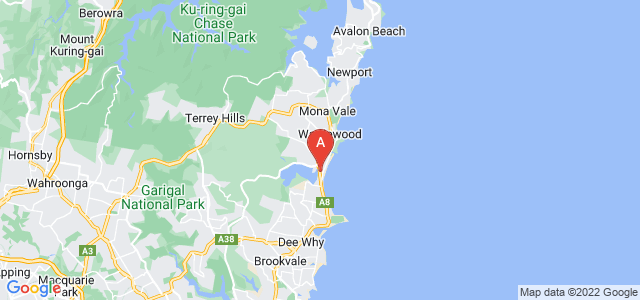 Google static map for Narrabeen