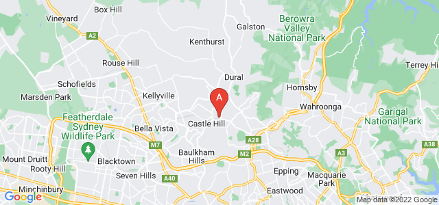 Google static map for The Hills
