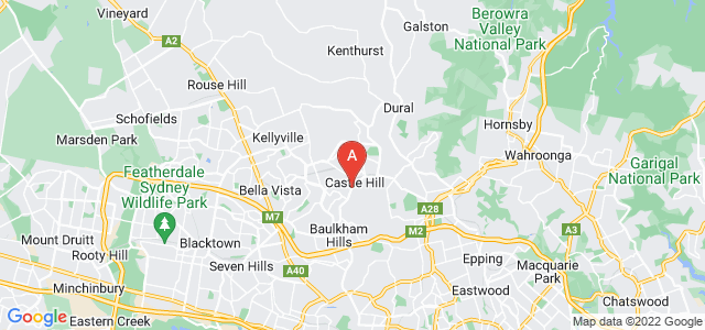 Google static map for Castle Hill