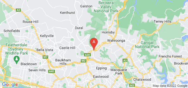 Google static map for Pennant Hills
