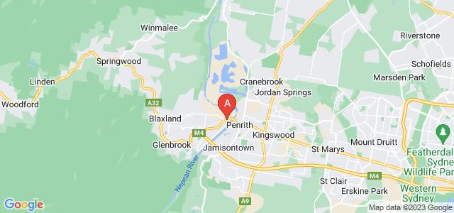 Google static map for Emu Plains