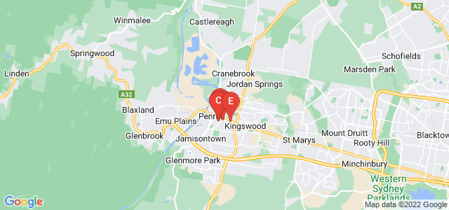 Google static map for Penrith