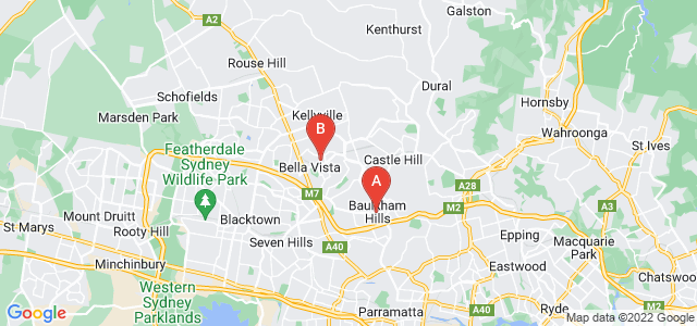 Google static map for Baulkham Hills