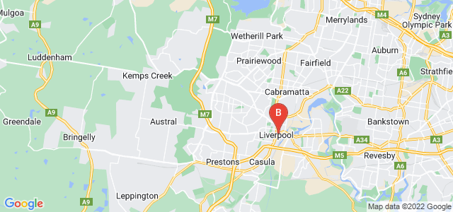 Google static map for Greater Western Sydney