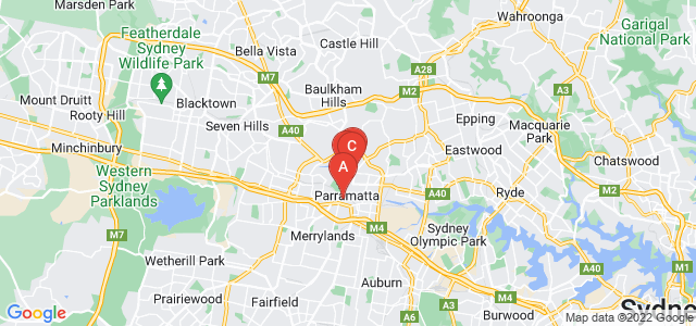 Google static map for Parramatta