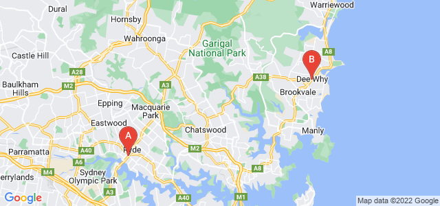 Google static map for Northern Suburbs