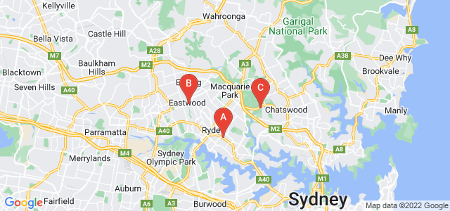 Google static map for Ryde
