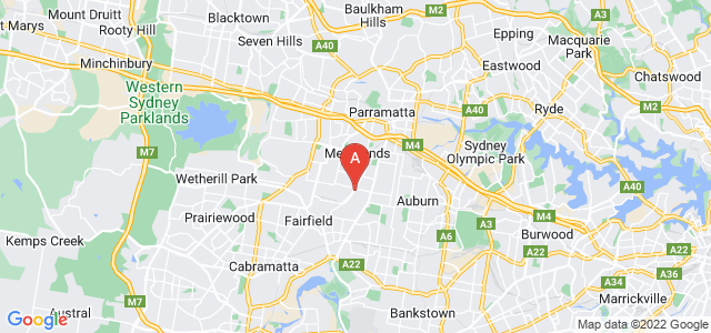 Google static map for Western Sydney