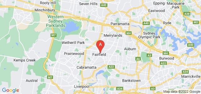Google static map for Fairfield City