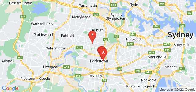 Google static map for Bankstown