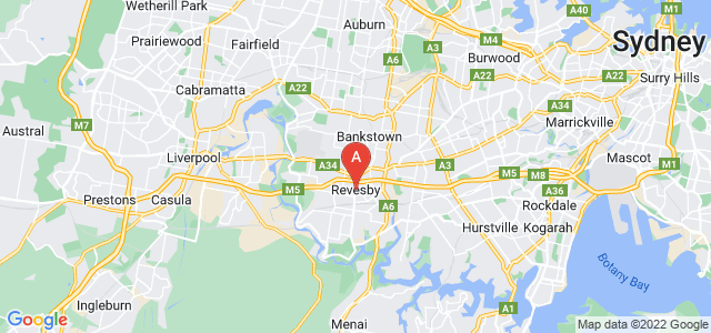 Google static map for Revesby