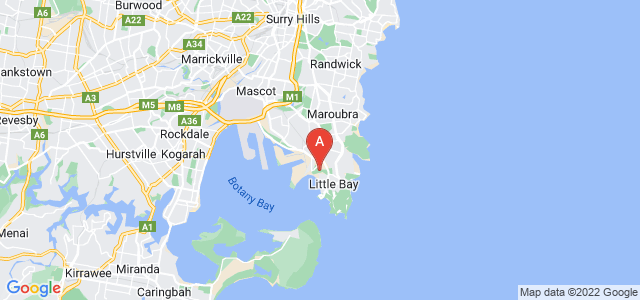 Google static map for Matraville