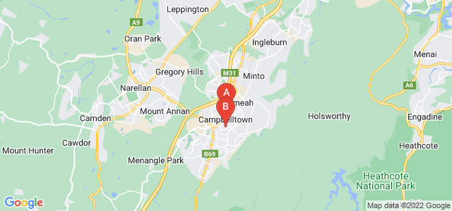 Google static map for Campbelltown