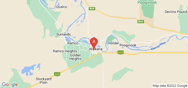 Google static map for Waikerie
