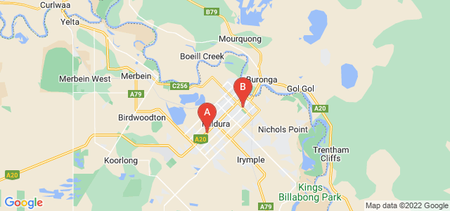 Google static map for Mildura