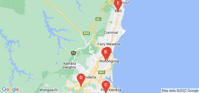 Google static map for Wollongong