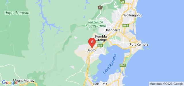 Google static map for Dapto