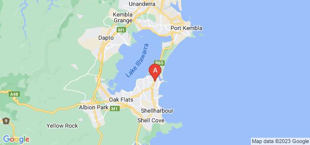 Google static map for Lake Illawarra