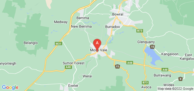 Google static map for Moss Vale