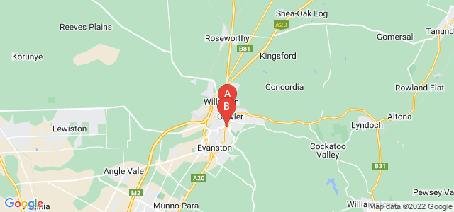 Google static map for Gawler