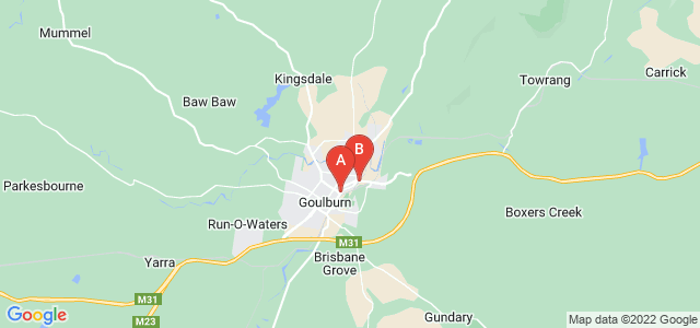 Google static map for Goulburn
