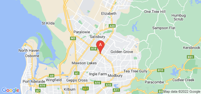 Google static map for Para Hills West