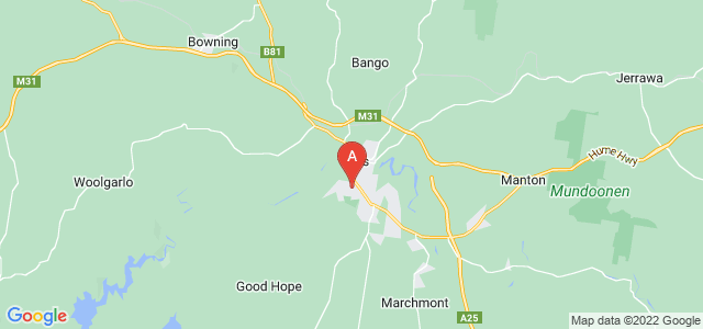Google static map for Yass