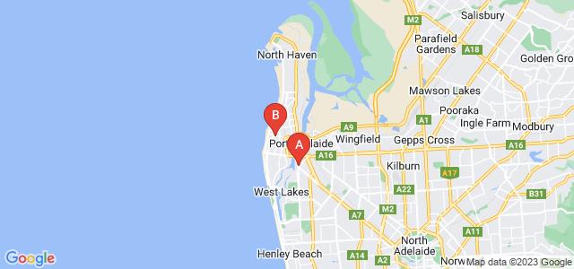 Google static map for Port Adelaide