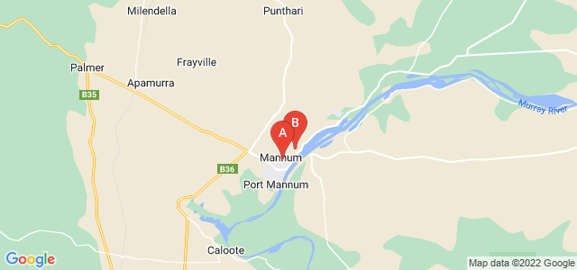 Google static map for Mannum