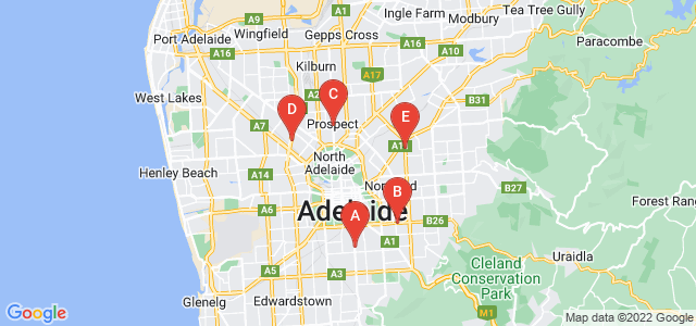 Google static map for Adelaide
