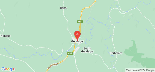Google static map for Gundagai