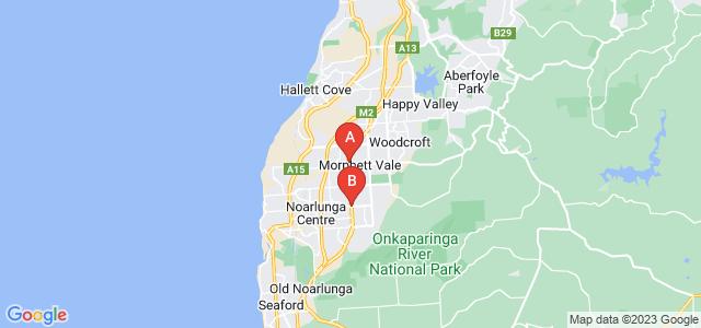 Google static map for Morphett Vale