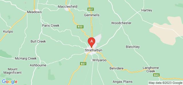 Google static map for Strathalbyn