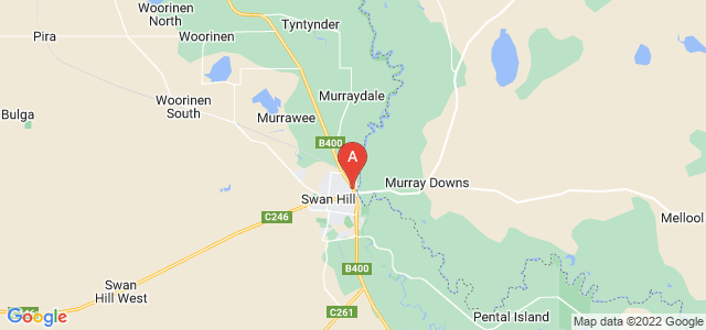 Google static map for Swan Hill