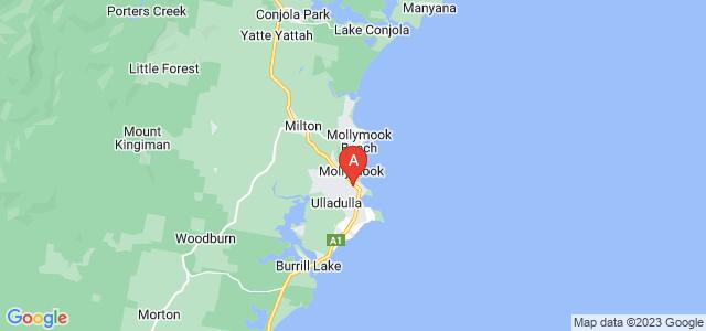 Google static map for Ulladulla