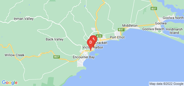 Google static map for Victor Harbor