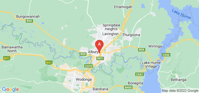 Google static map for Albury