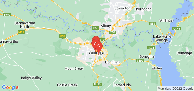 Google static map for Wodonga