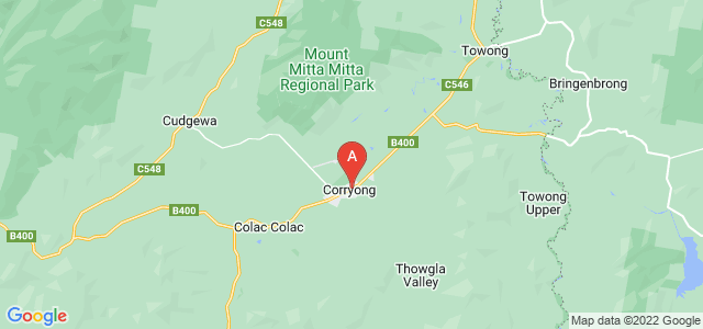 Google static map for Corryong
