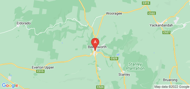 Google static map for Beechworth
