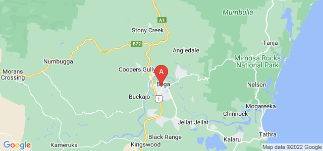 Google static map for Bega