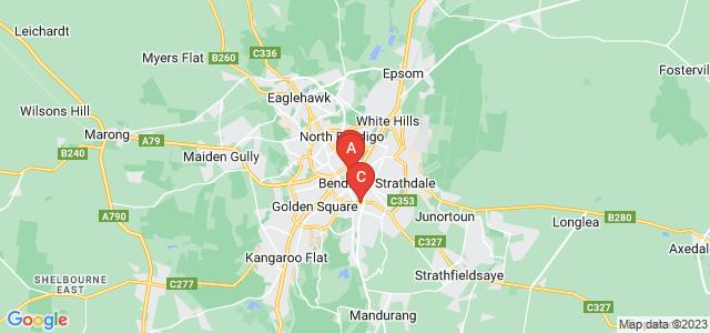 Google static map for Bendigo