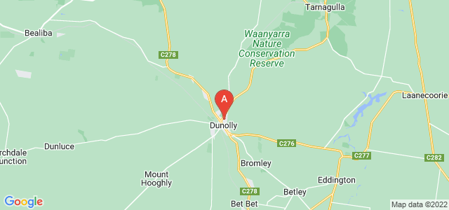 Google static map for Dunolly