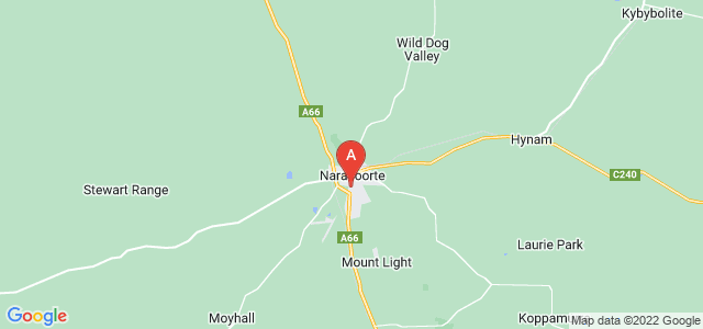 Google static map for Naracoorte