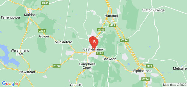 Google static map for Castlemaine