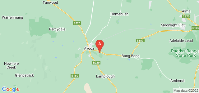Google static map for Avoca